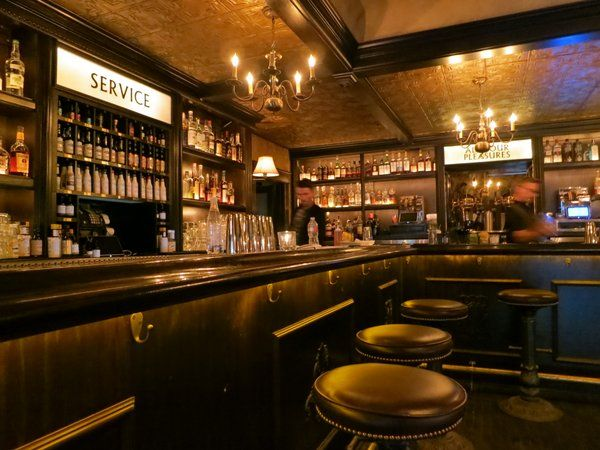 10 Nostalgic Bars In Los Angeles No Vacancy 1727 Hudson Bar Design Restaurant Bar Speakeasy Bar