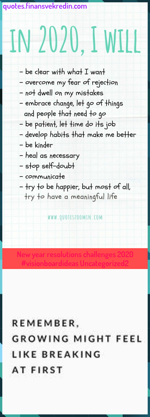 New Year Resolutions Challenges 2020 Visionboardideas Uncategorized2 New Year Resolutions Challenges 2020 Visionboardideas Uncategorized2 In 2020 Happy Quotes