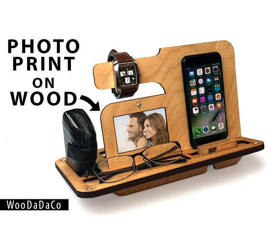 Beau IPhone Stand, Wooden Gift For Him, Samsung Stand, Charging Station, Mobile  Phone