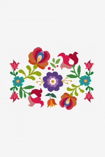 Summer Mexican Flowers Pattern Embrodery Pinterest Mexican