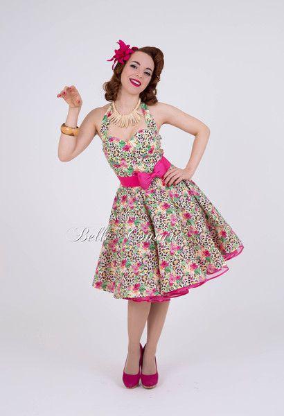 """Robes à volants, Rockabillykleid """"Wild Cat"""" 50er Jahre Pinup est une création orginale de atelier-belle-couture sur DaWanda"""