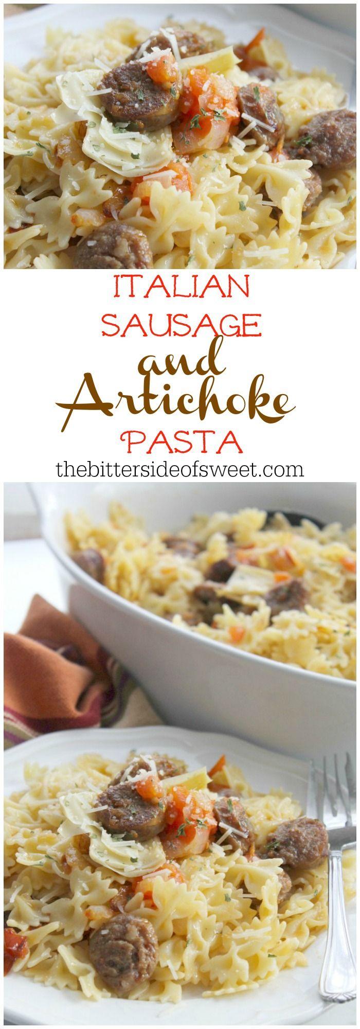 Photo of Italian Sausage and Artichoke Pasta (Pasta co