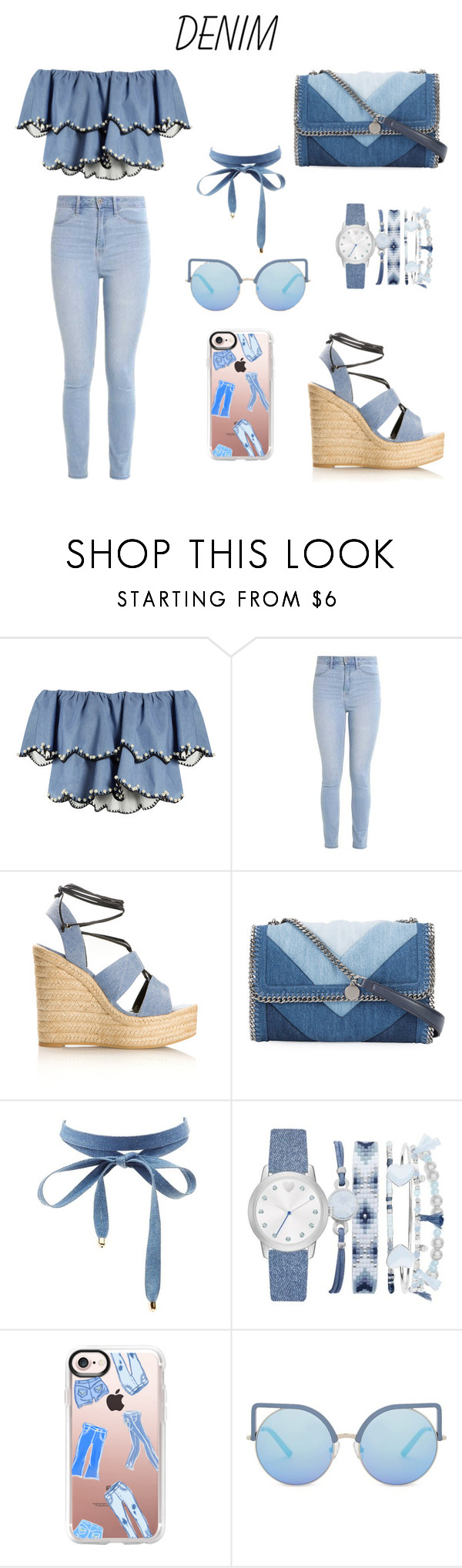 """""""Untitled #22"""" by kgordo73 ❤ liked on Polyvore featuring HUISHAN ZHANG, Hollister Co., Yves Saint Laurent, STELLA McCARTNEY, Charlotte Russe, A.X.N.Y., Casetify and Matthew Williamson"""