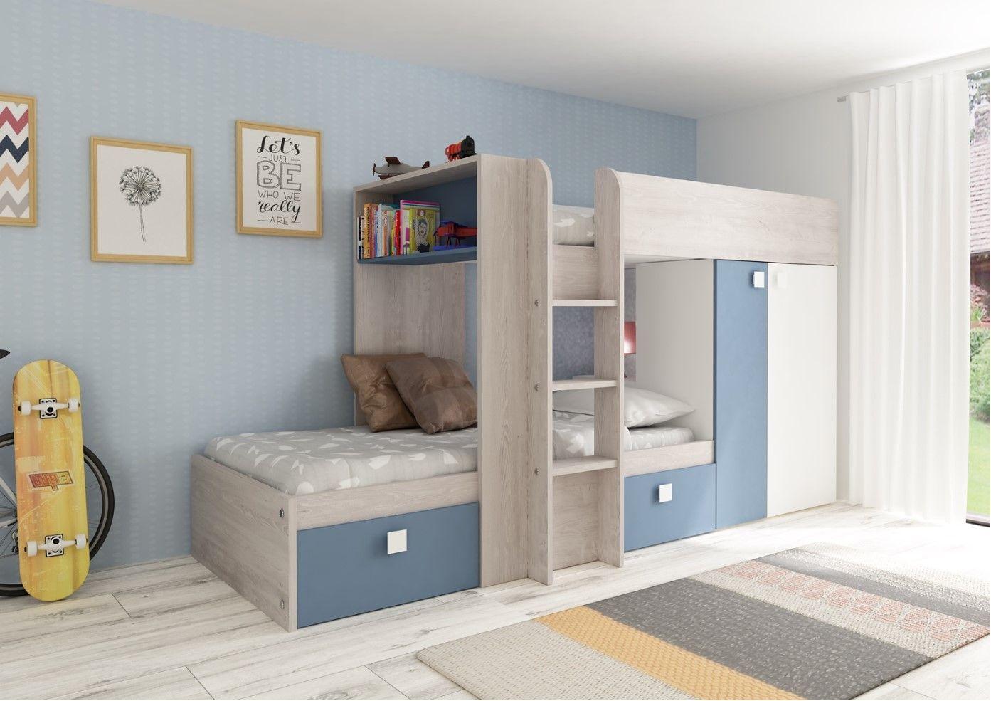Set Etagenbett Julien : Kinderbett hochbett etagenbett julien 2x90x190cm limited edition