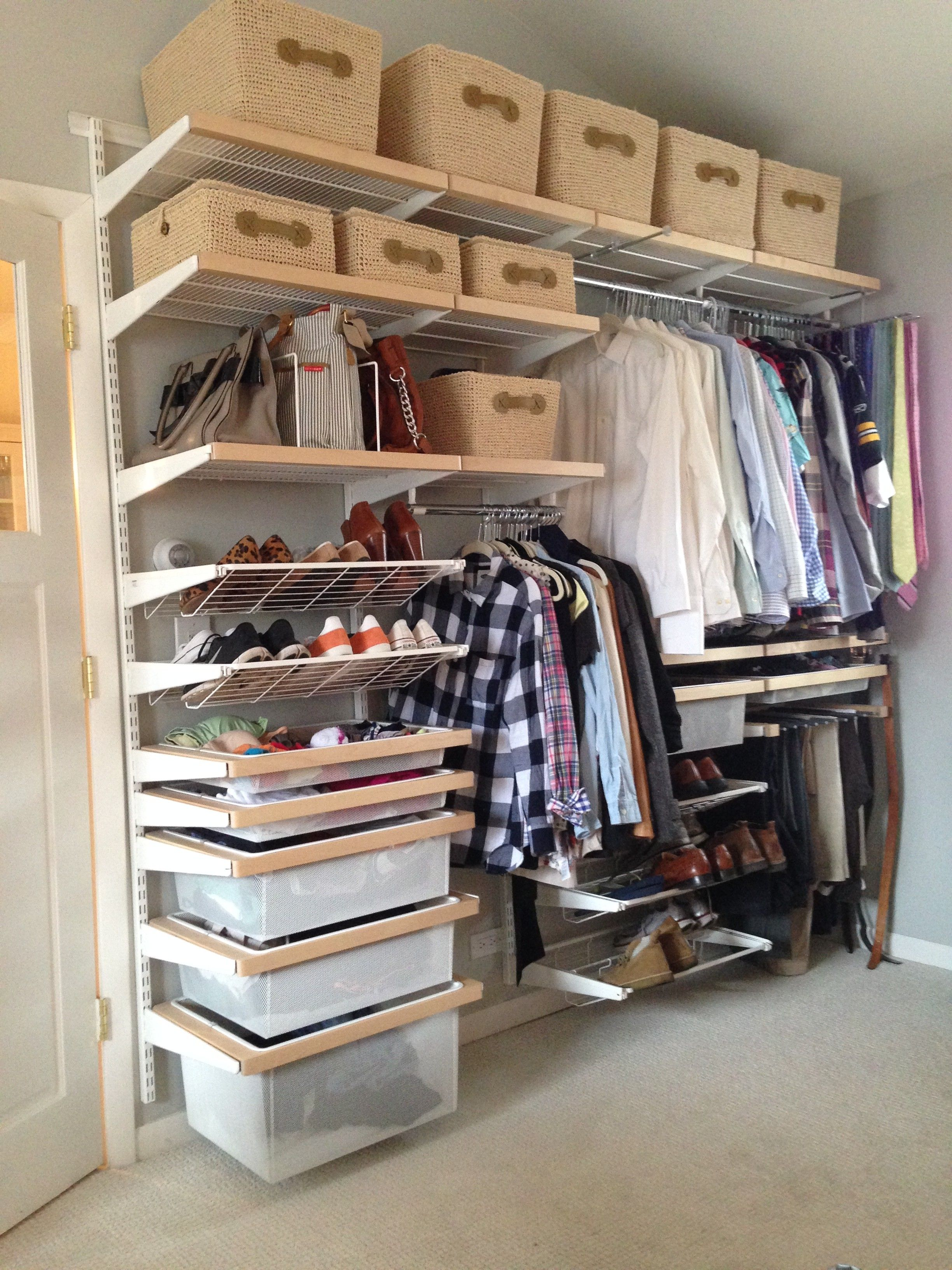 Do It Yourself Custom Closet Organization Systems With Easy Design
