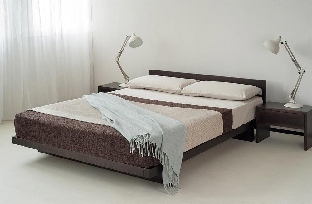 Kumo is one of our japanese style low wooden beds for Bed without headboard