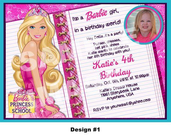 Barbie Princess Charm School invitation by StorybookLaneCrafts