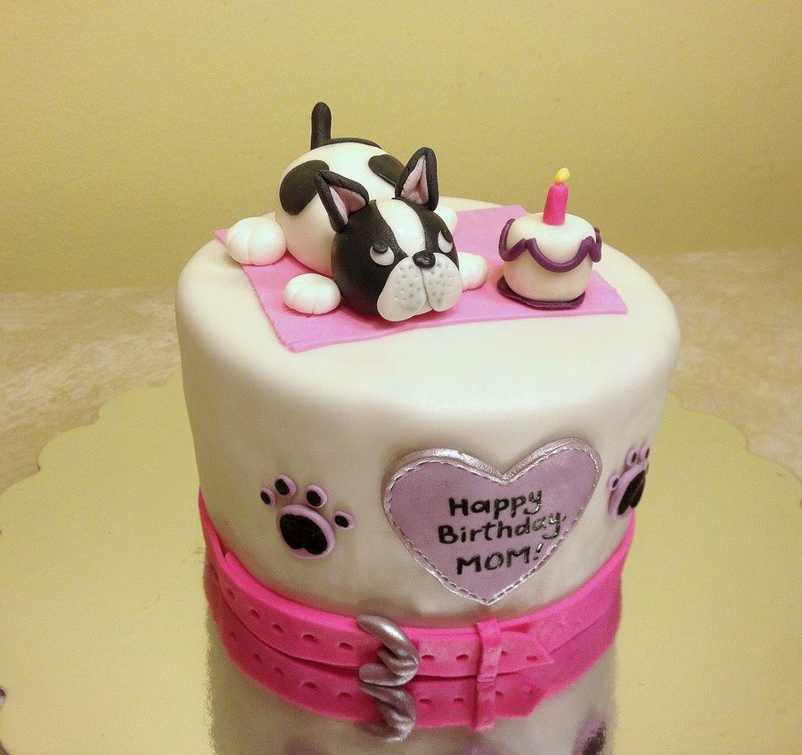 French bulldog cake dog cake Cakes for kids Pinterest