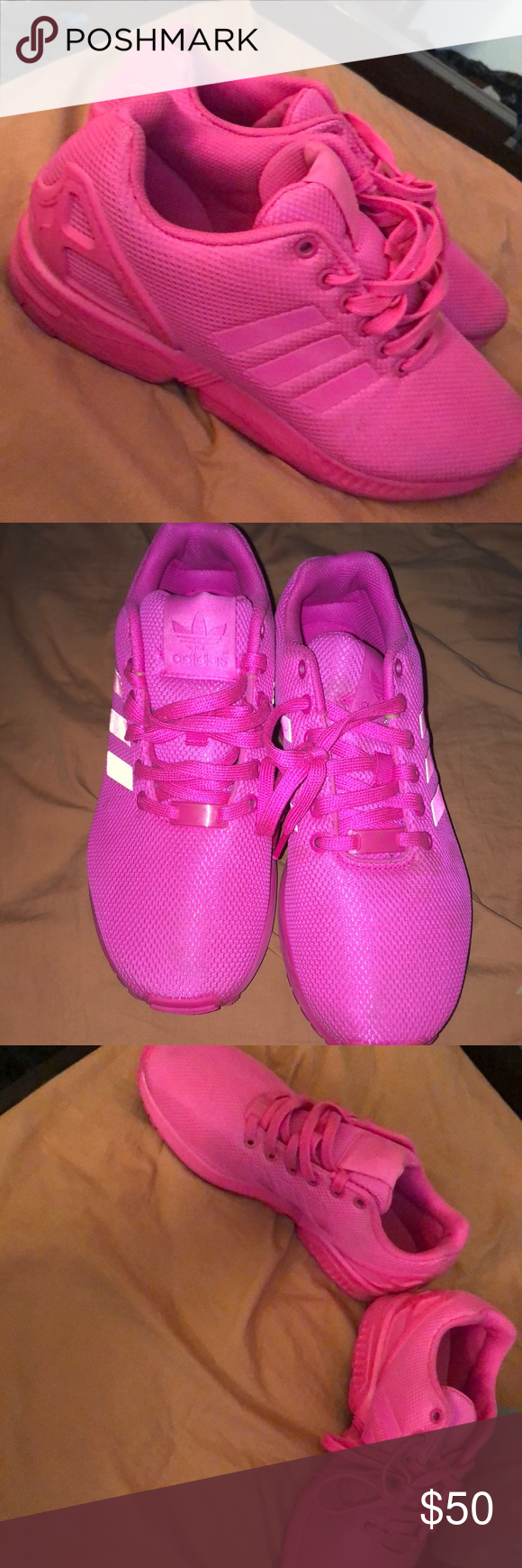 plus récent 77ba2 effcc Adidas ZX FLUX Neon Pink Adidas ZX Flux, ALL PINK but the ...