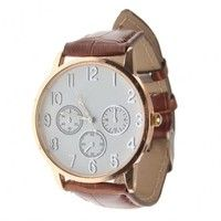 Creo que Fashioncity Classic Watch Man Woman Brown Artificial Leather Wrist Watch White CompassFC4489 te gustará. Agrégalo a tu lista de deseos   http://www.wish.com/c/525974843deaf763cf72cd18