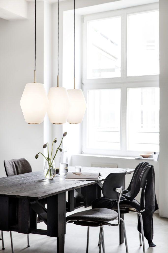 Die Neuen Nordlichter Interior Design Esszimmer Schwarz Wei Modern Skandinavisch Einrichten