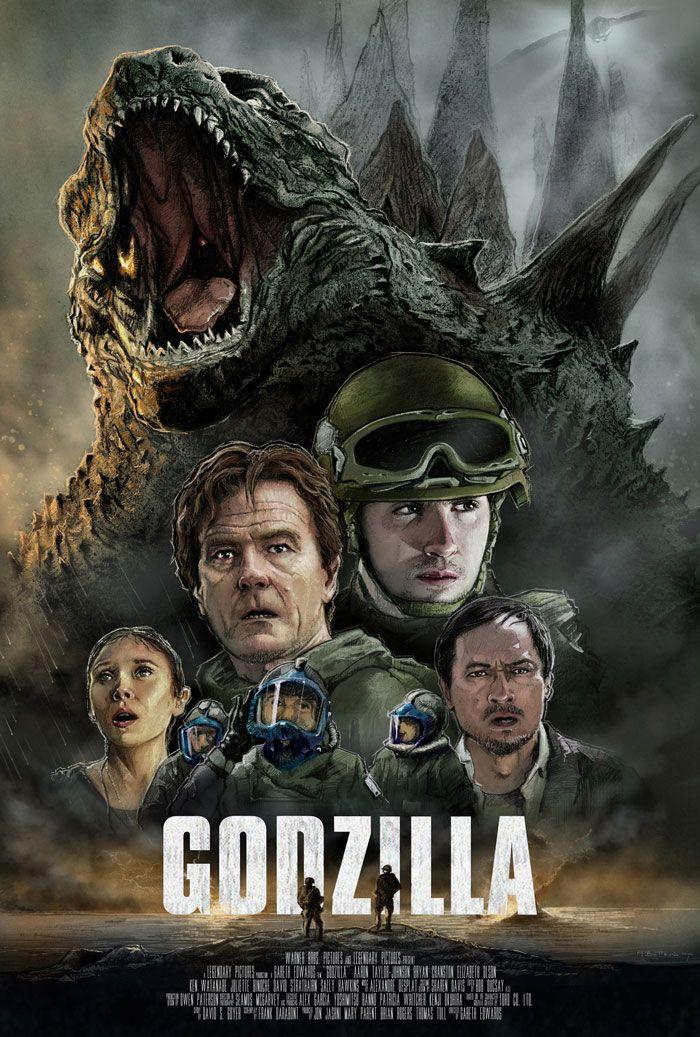 Alternative movie poster for Godzilla by Mark Button