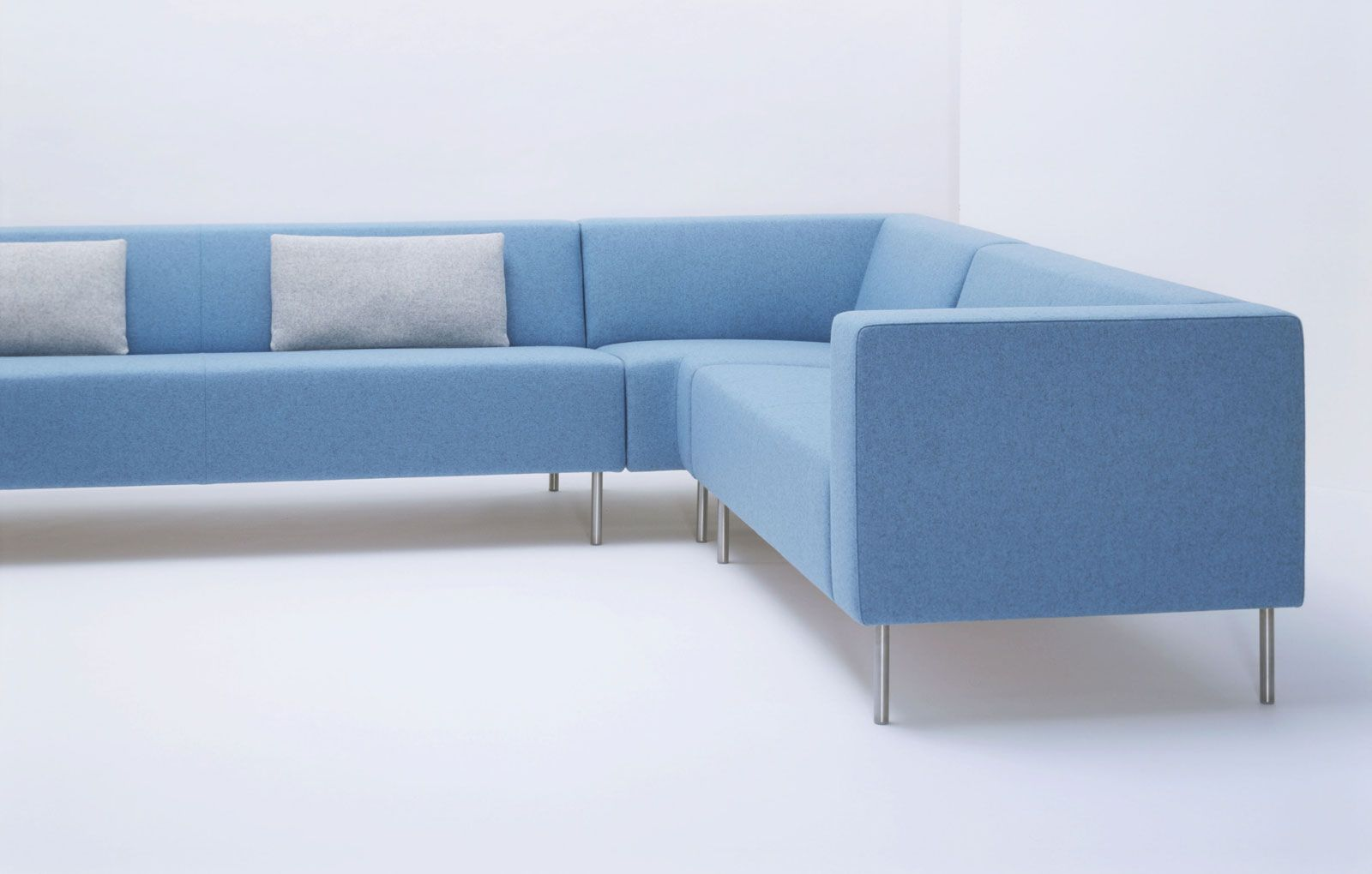 Blue Office Reception Sofa Www Spaceist Co Uk Reception Sofa Sofa Layout Furniture