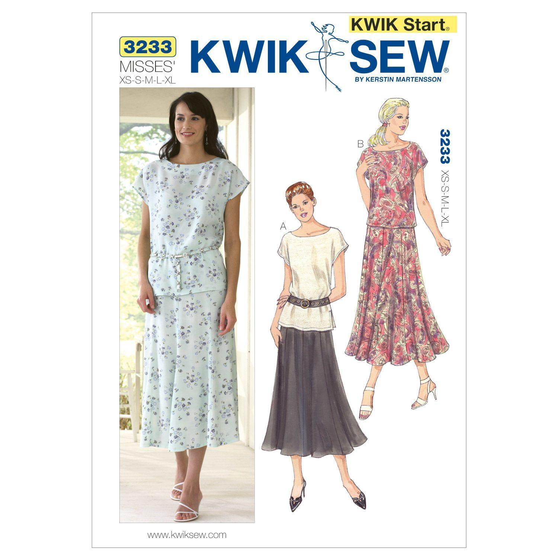 Mccall Pattern K3233 Xs - S - M - L - X - Kwik Sew Pattern