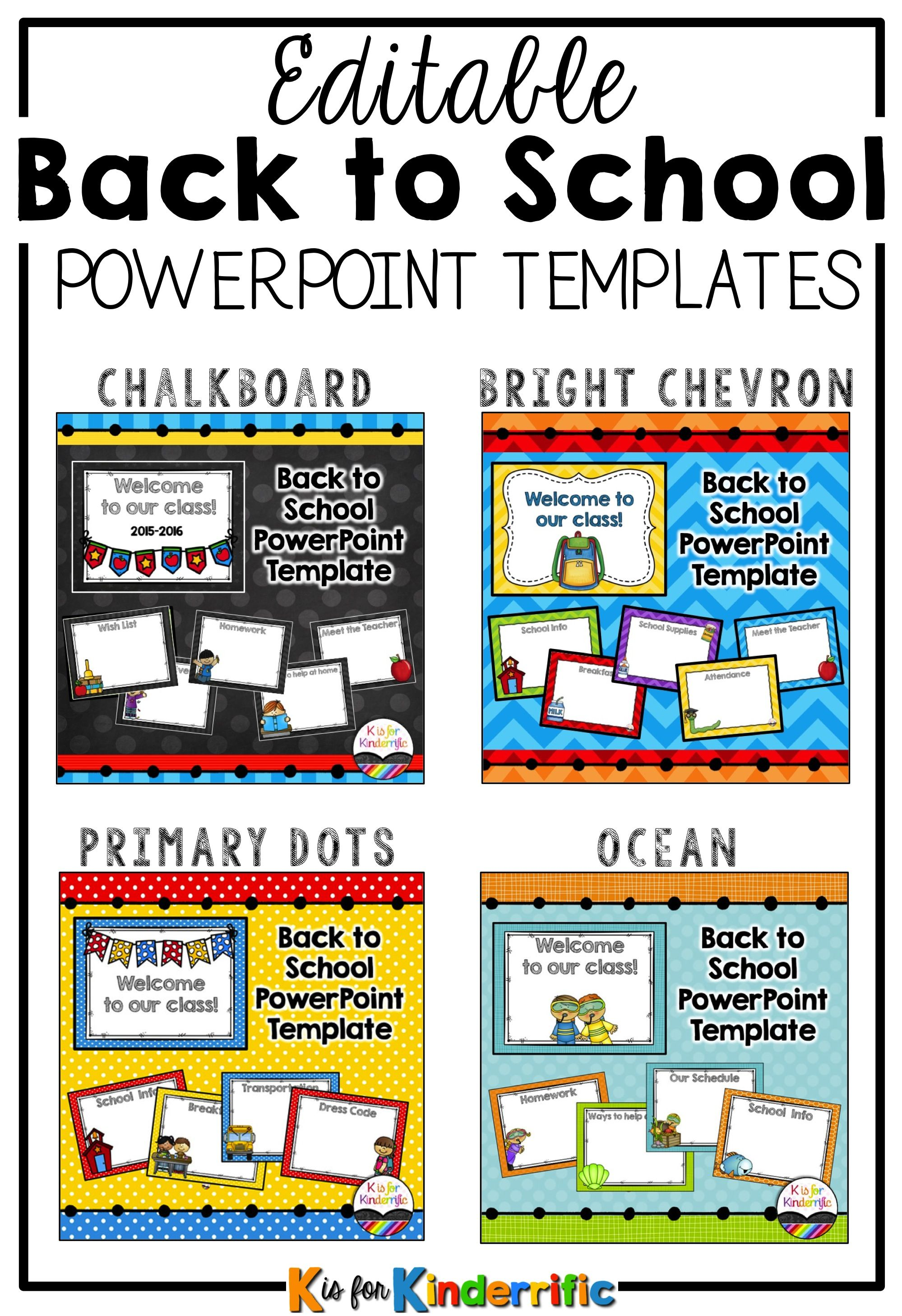 Editable Powerpoint Templates Designed Especially For Elementary