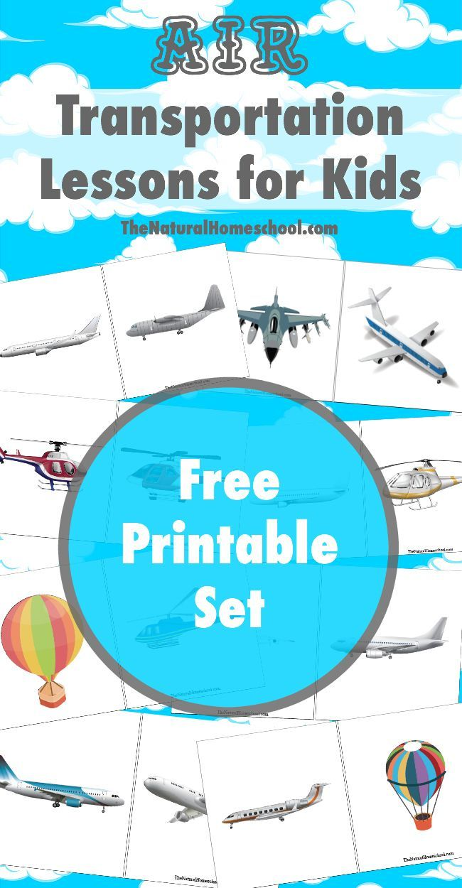 Air Transportation Lessons for Kids {Printables | Homeschool ...