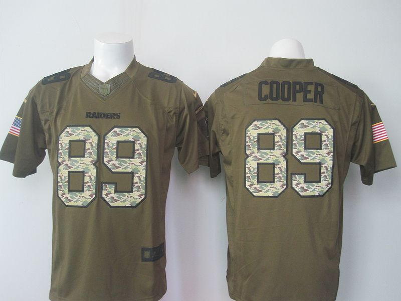Top Nike Oakland Raiders #89 Amari Cooper Army Green Salute To Service  supplier