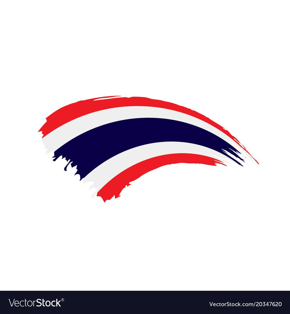 Thailand Flag Vector Illustration On A White Background Download A Free Preview Or High Quality Adobe Illus Thailand Flag Flag Vector Motorcycles Logo Design