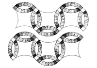 Free Quilt Block Pattern: Simplicity Studio Double Wedding Ring Quilt at Simplicity.com