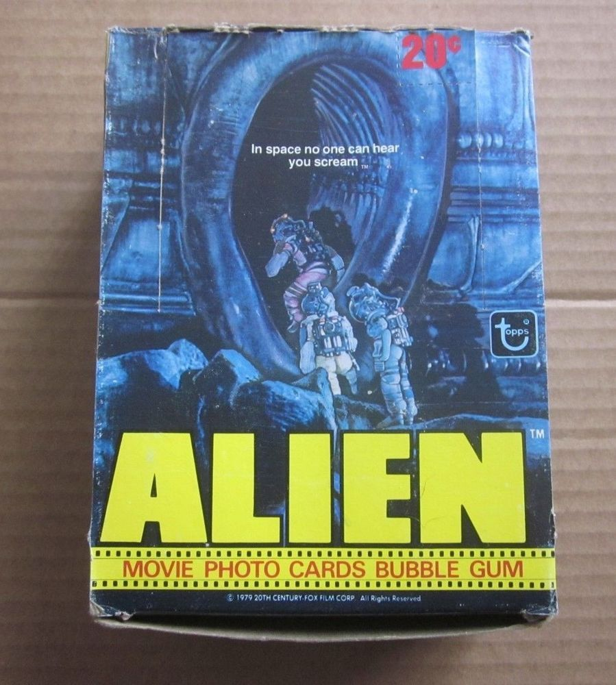 Alien Movie Wax Pack 1979 Trading Cards by Topps Single Pack