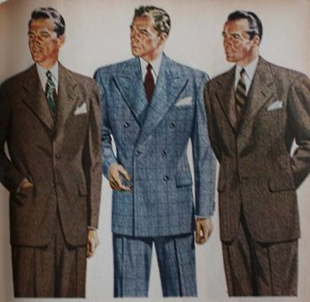 1940s Men's Suit History and Styling Tips | Suits, Histories and ...