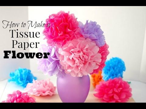 How to make tissue paper flowers video tutorial tissue paper flower how to make tissue paper flowers video mightylinksfo
