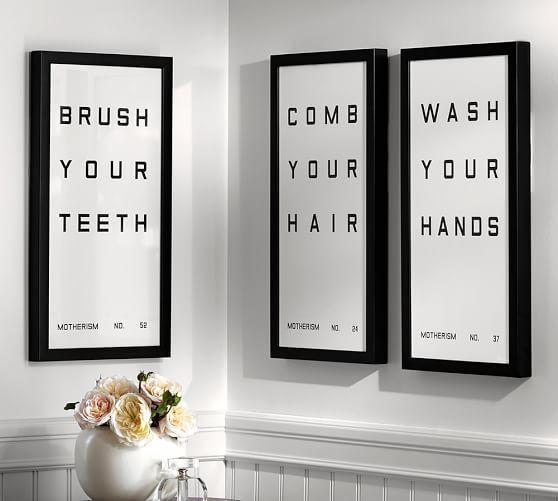 Bathroom Sign Framed Prints