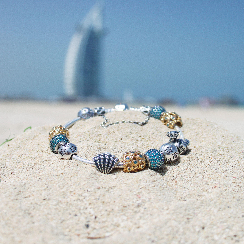 6196a6fecf1 The perfect PANDORA summer themed bracelet!  PANDORAbracelet  PANDORAme   Beach  Dubai