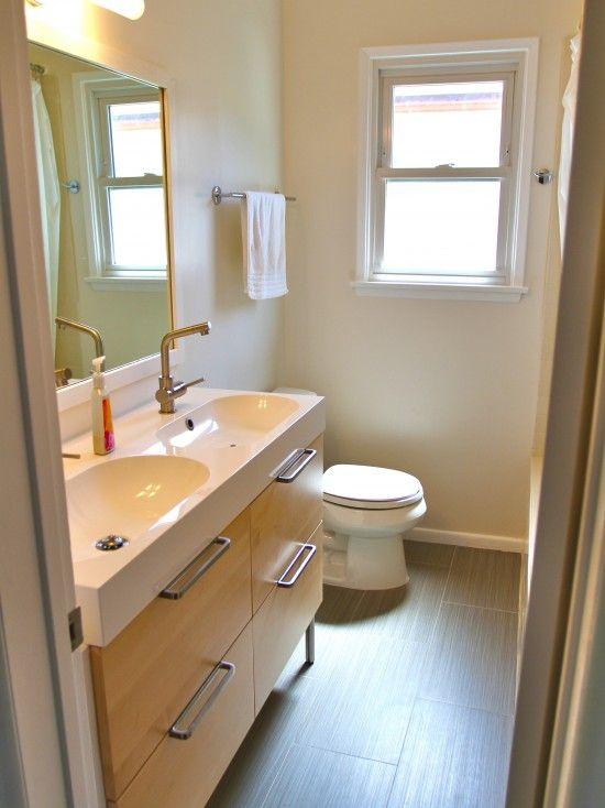 Small Bathroom (main floor bath), pocket door instead of swinging