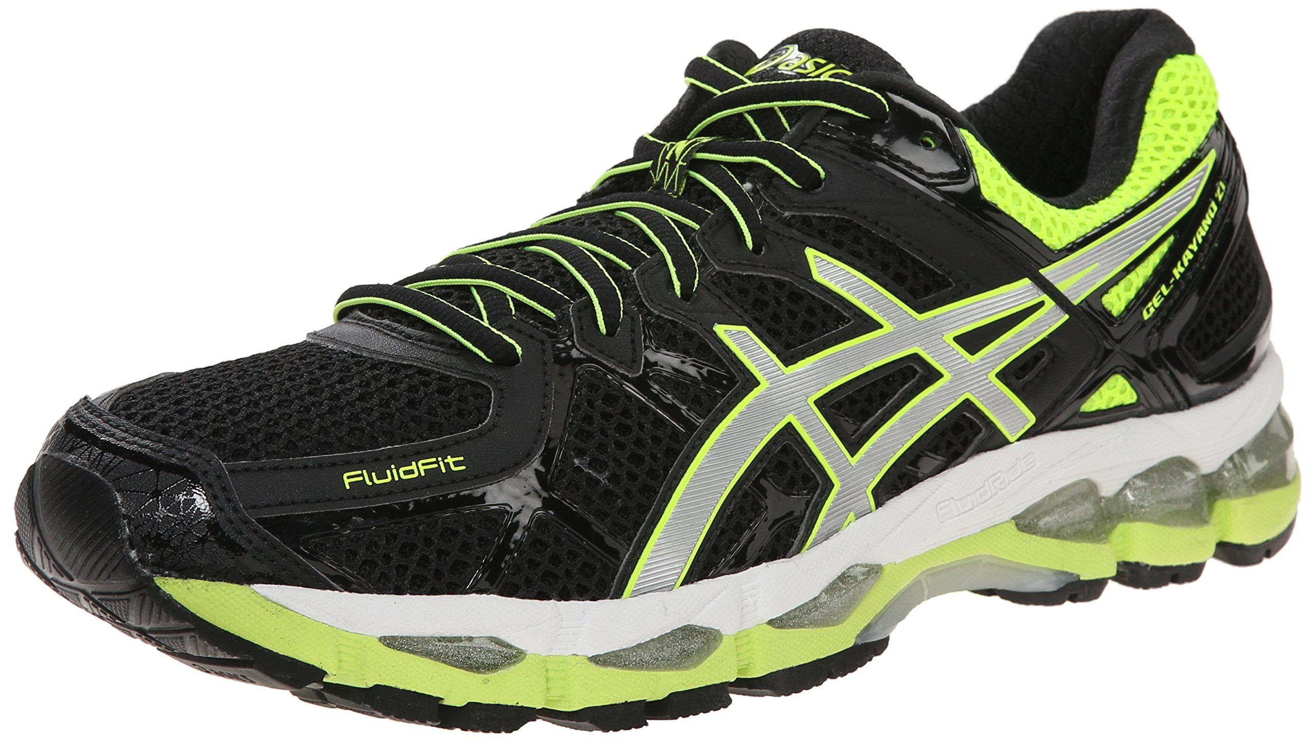 super popular b67b7 9f42f Amazon.com  ASICS Men s Gel Kayano 21 Running Shoe   Color  Black   Silver    Flash Yellow