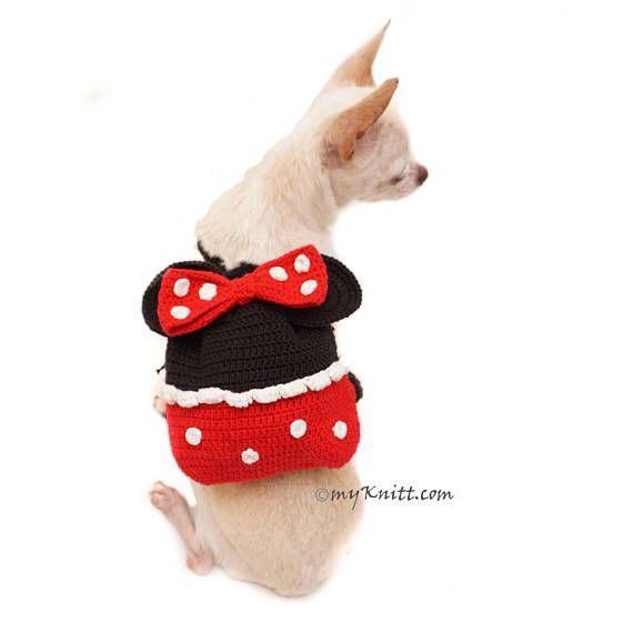 Minnie Mouse Dog Bag, Crochet Dog Bag Travel, Funny Dog Backpack ...