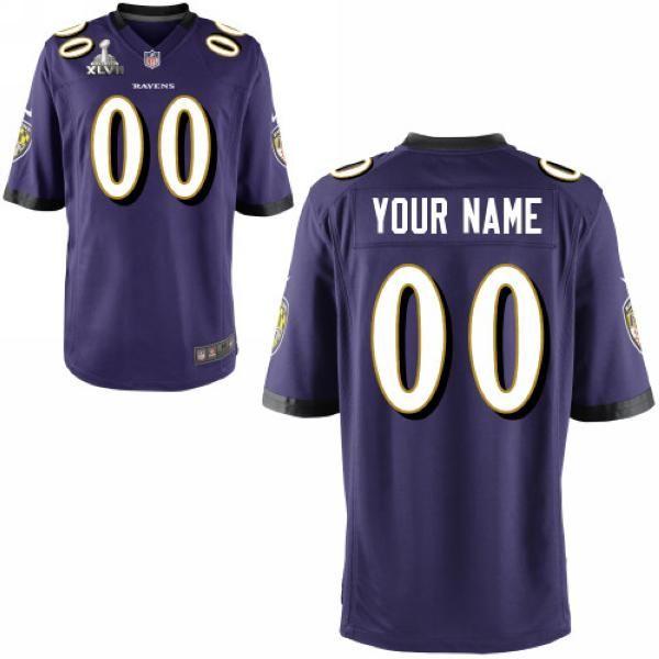 d04189c24 Men Nike Baltimore Ravens Customized Super Bowl XLVII Game