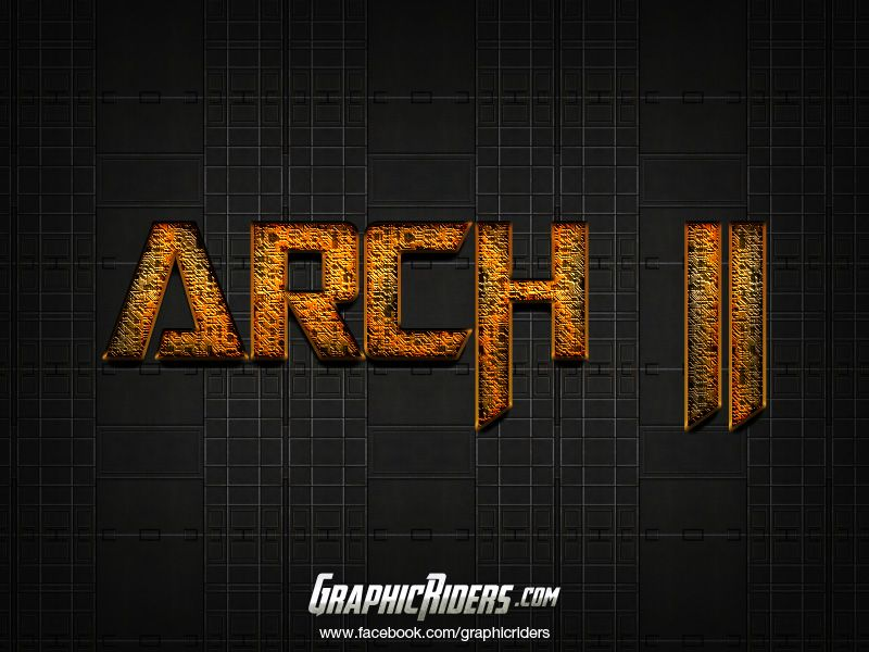 GraphicRiders | Sci-fi style – Arch 2 (free photoshop layer style, text effect) #graphicriders