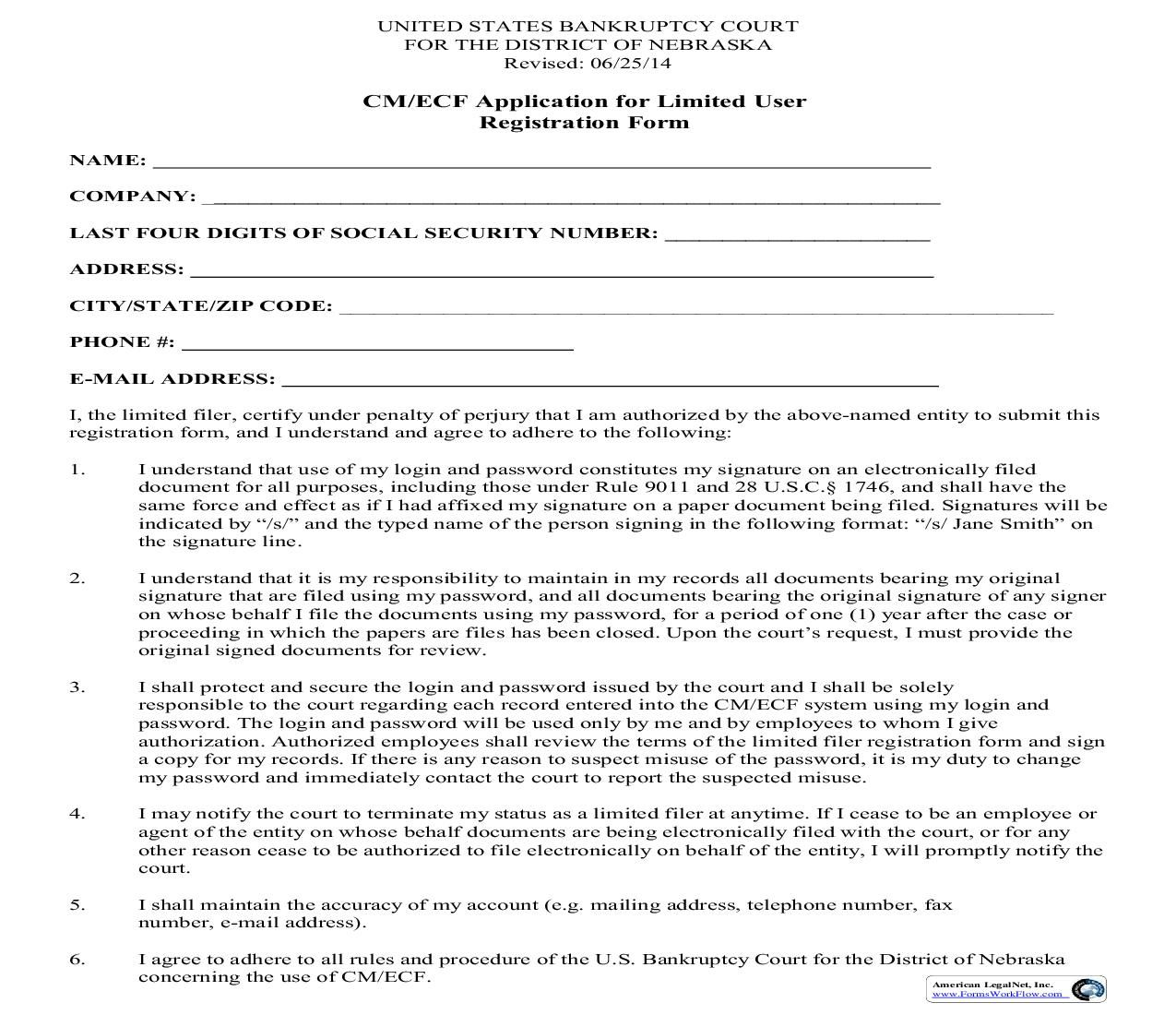 This Is A Nebraska Form That Can Be Used For Electronic Case