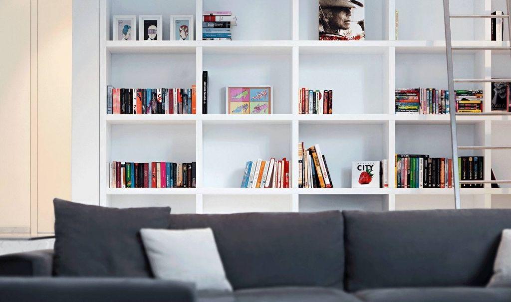 Modernes Bücherregal modernes bücherregal im wohnzimmer bücherregal