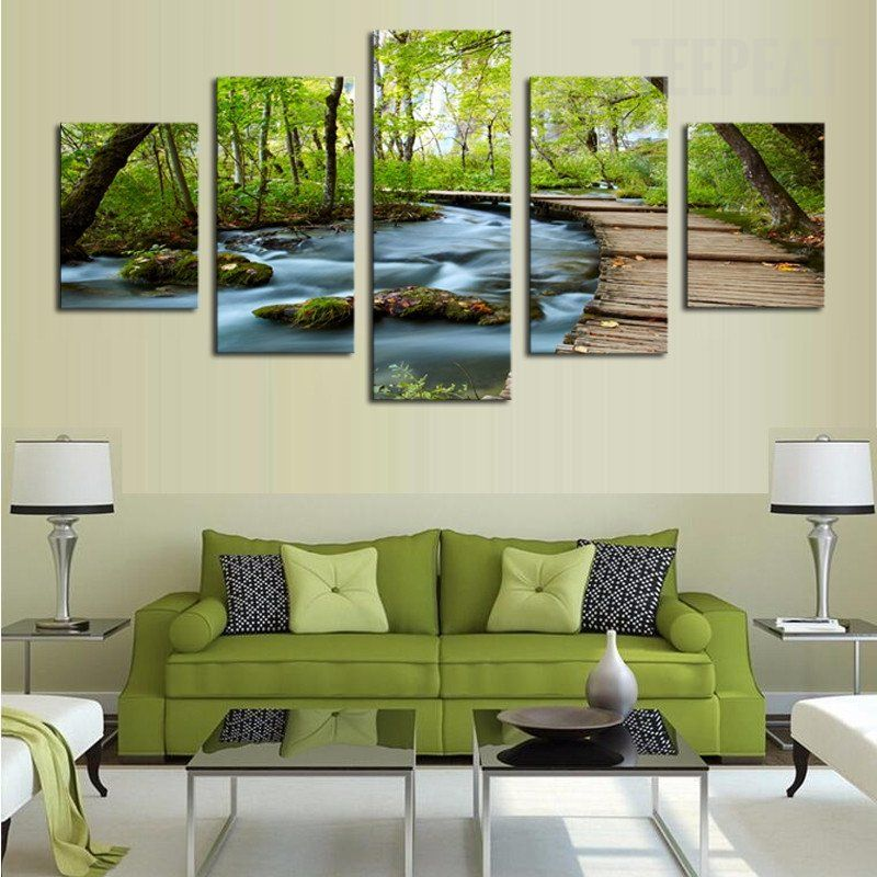 Home Wall Artwork Decor Nature Scenery Oil Painting Picture Printed On Canvas