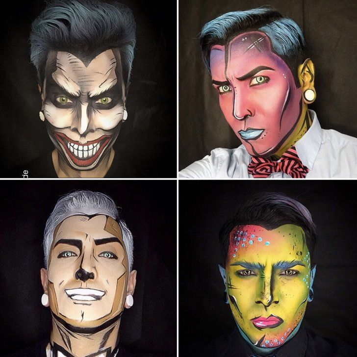 Don't believe these aren't drawings? | Comic book makeup, Cartoon ...