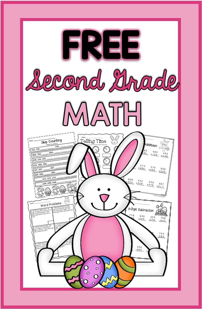 Easter Math Freebie Math activities, Elementary math