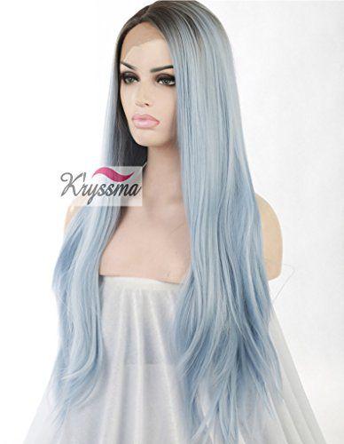 K'ryssma® Women's Straight Blue Ombre Hair Dark Roots Lon... https://www.amazon.co.uk/dp/B01852O7RQ/ref=cm_sw_r_pi_dp_MR0wxbVM8P3H1