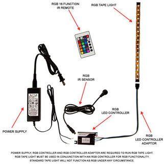 4 In Rgb Color Changing Led Tape Light 12 Volt Tape Lights Color Changing Led Led Tape Lighting