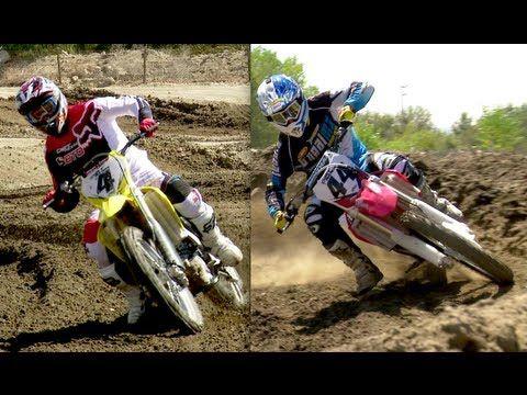 2013 Honda CRF450R vs 2013 Suzuki RM-Z450 - On Two Wheels Episode 18