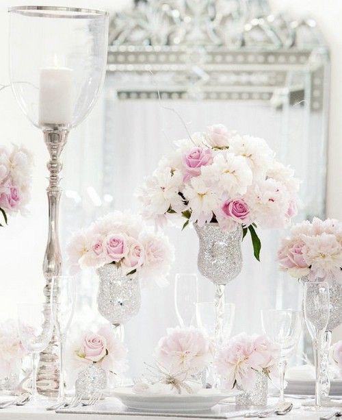 Silver white decor hochzeit pinterest beliebte for Pinterest hochzeitsdeko