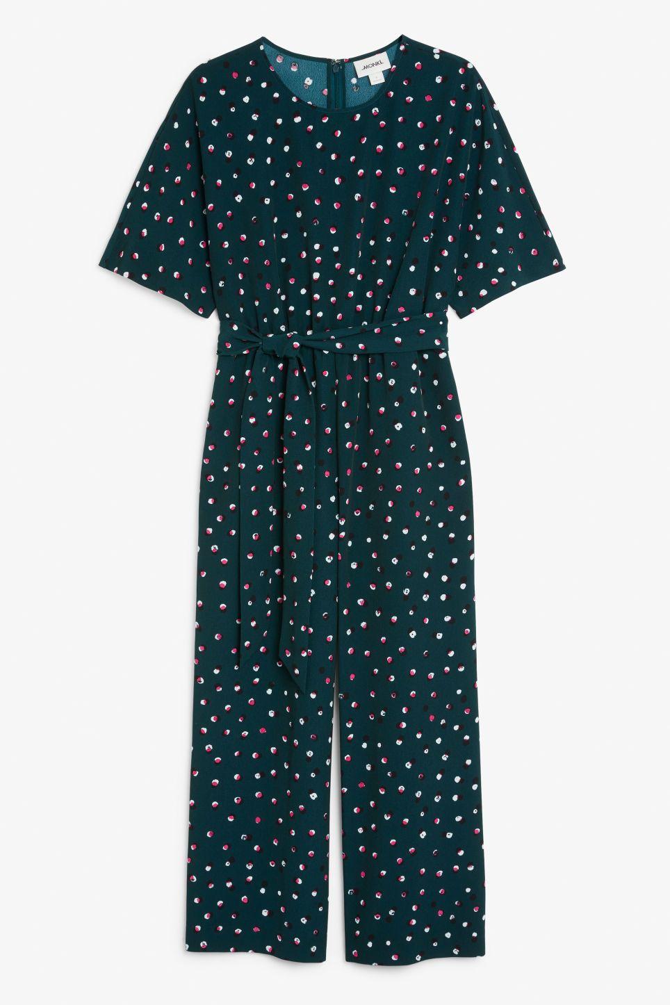 b1a7ccf0821 Belted jumpsuit - Multi-colour polka dot - Jumpsuits