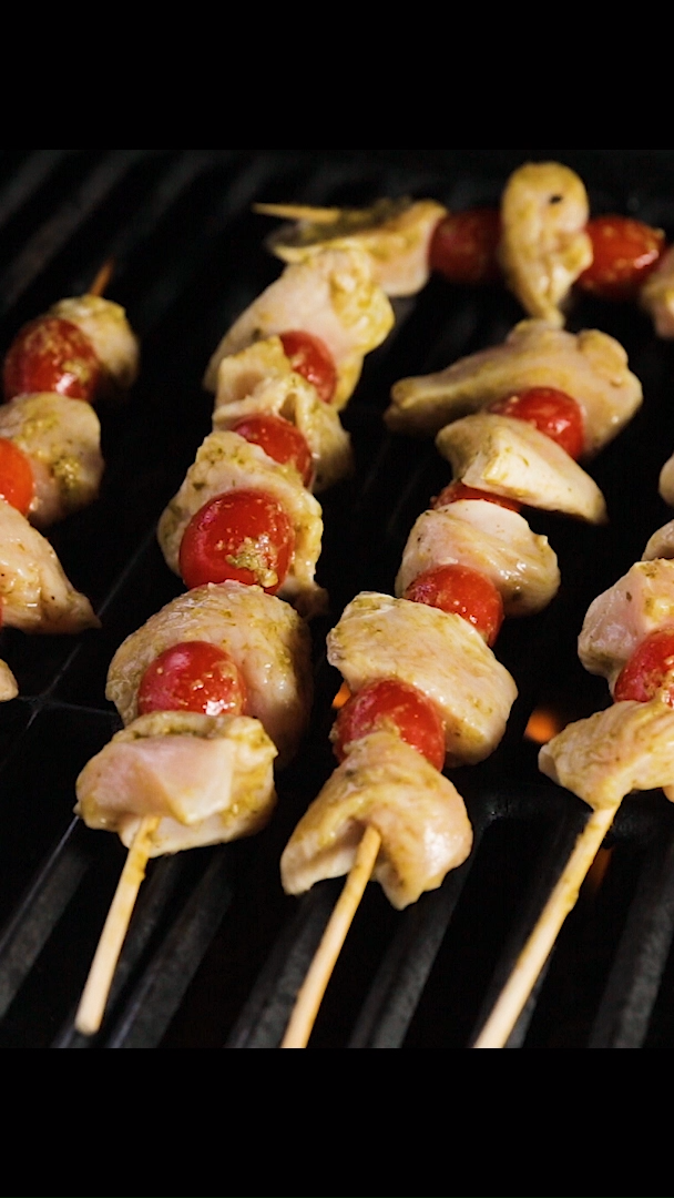 Pesto Chicken Kabobs images