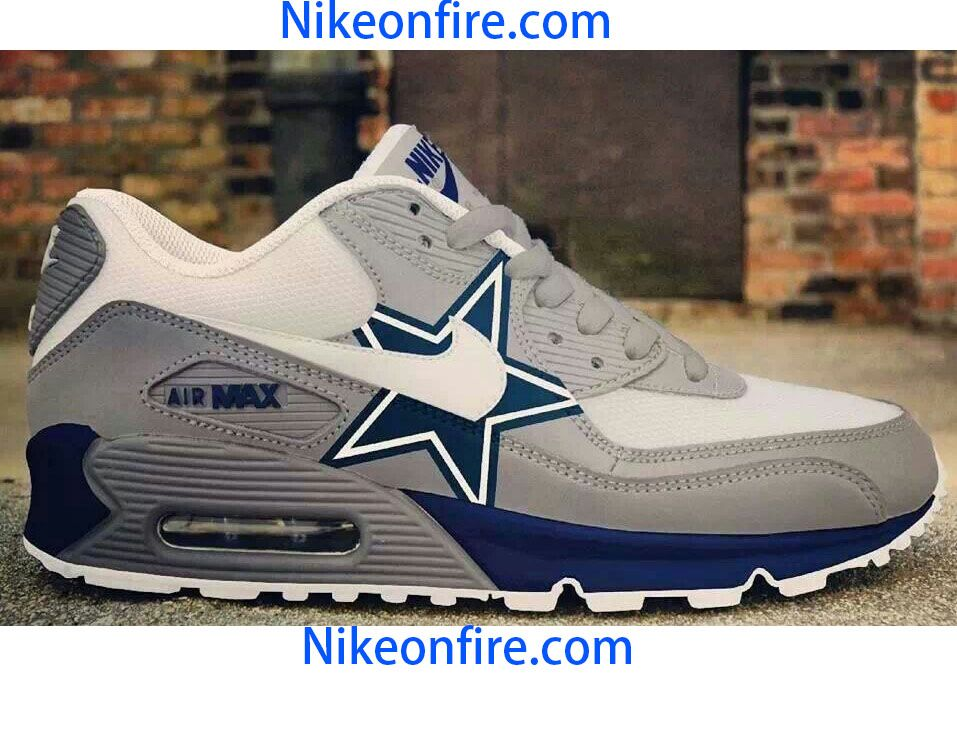 Nike air max 90 dallas cowboys shoes, buy it on nikeonfire.com  size from 5.5 to 12, for womens and mens  fast shipping, high quality  http://www.nikeonfire.com