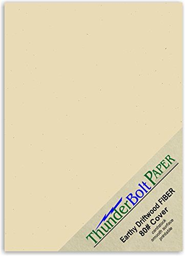 100 Earthy Driftwood Fiber Paper Sheets 80 Cardstock 5 X 7 5x7 Inches Photocardframe Size Quality 80 Lbpound Card Wei Card Stock Cardstock Paper Cover Paper