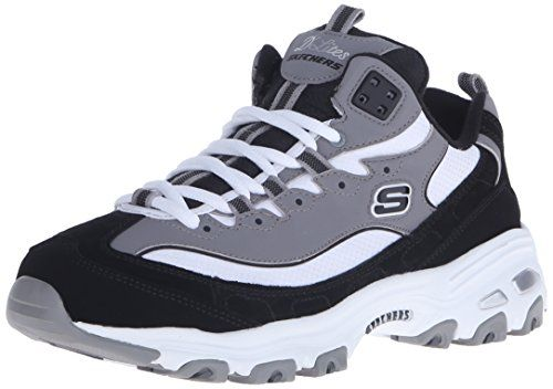 Details zu NEU SKECHERS Damen Sneakers Schnürschuhe Turnschuhe D'LITES INTERLUDE Schwarz