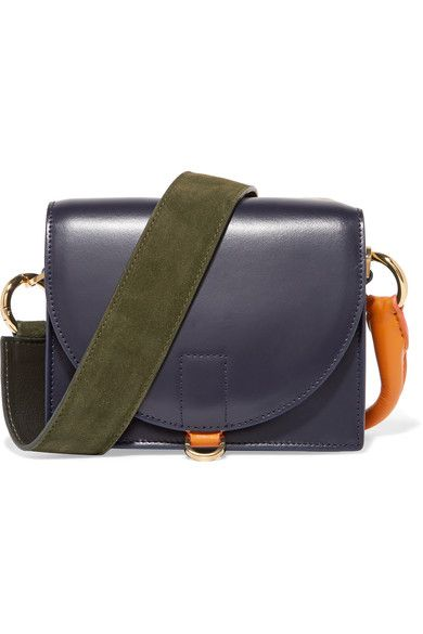 5f8f1f6cd2 SACAI Satchel Suede And Leather Shoulder Bag.  sacai  bags  shoulder bags   hand bags  satchel  suede