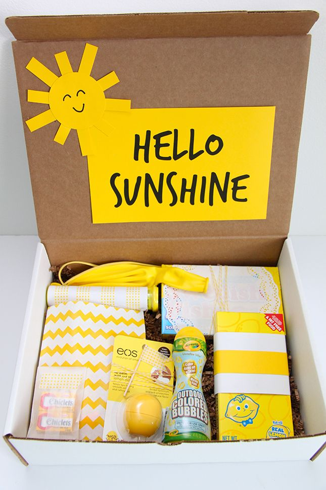 Hello Sunshine A Happy Gift Idea Cheer Up Gifts Little