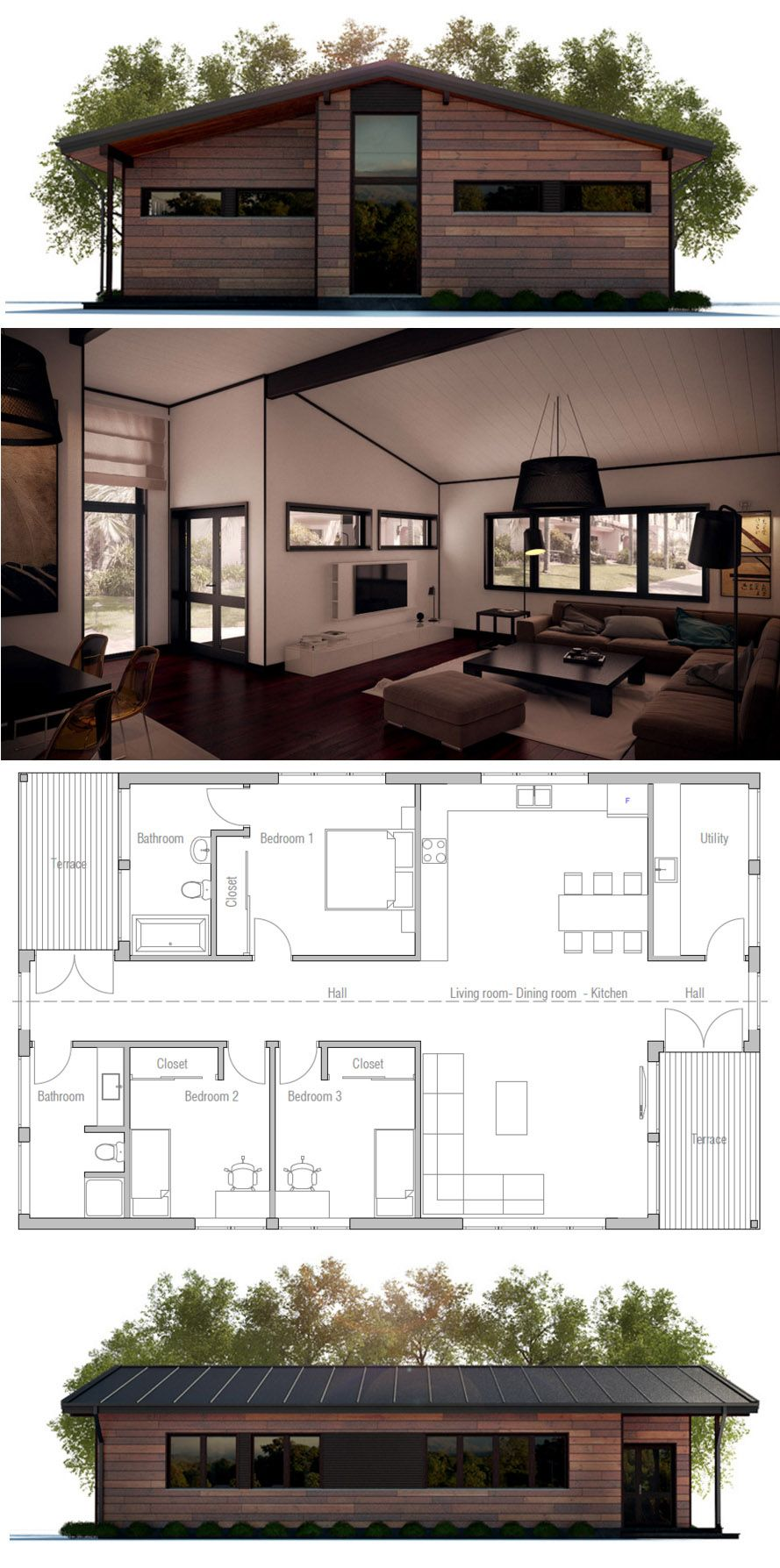 Small home plan floor house designs new homeplans also rh pinterest